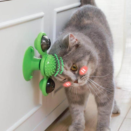 windmill cat toy 5-in-1 detachable balls with lights and catnip