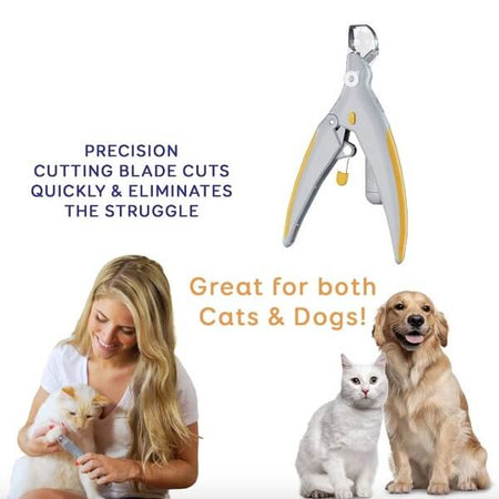 pet nail clippers with led light and 5x magnifier for dogs cats