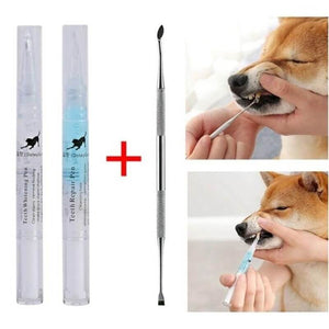 pet teeth cleaning pen pet tartar remover and cleaning tool