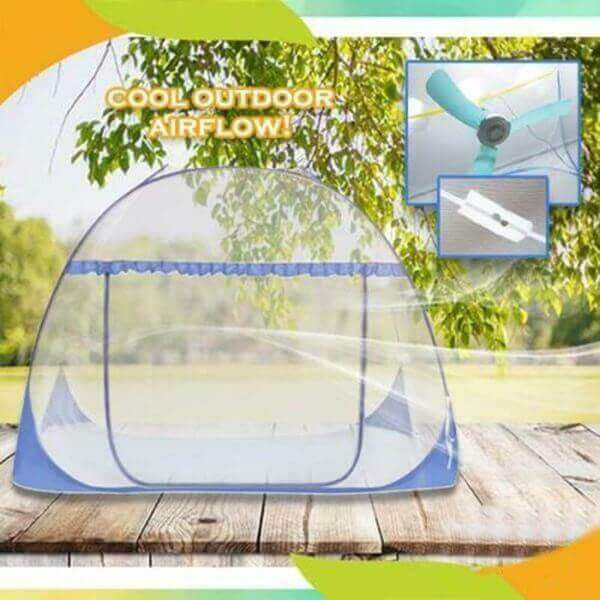 cool outdoor airflow anti-mosquito pop up mesh tent