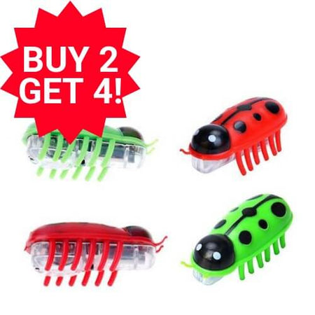robot bug toy for cats size