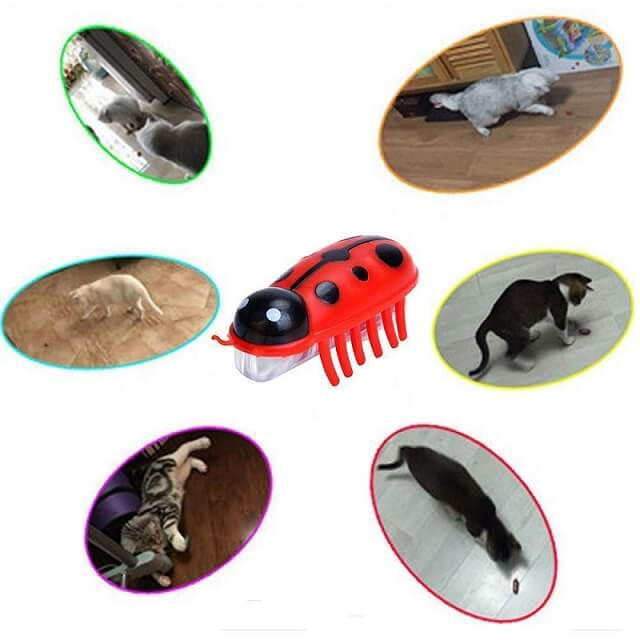 robot bug toy for cats interactive toys