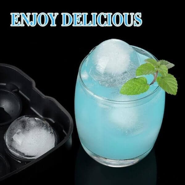 silicone round ice cube maker for whiskey
