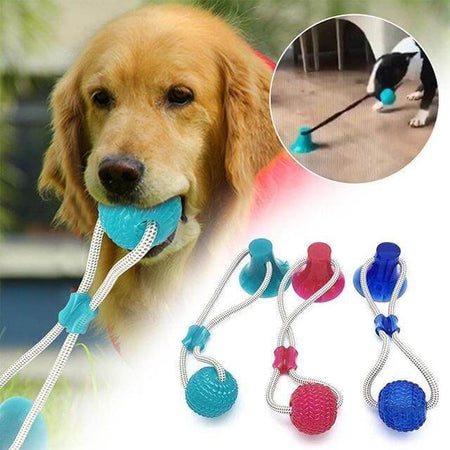 suction cup tug dog toy for aggressive chewers