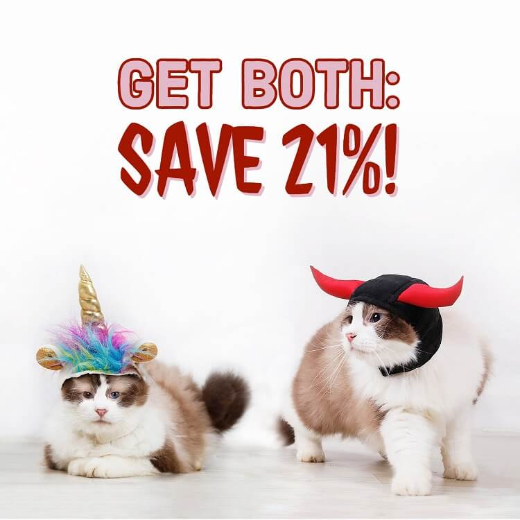 unicorn devil cat Halloween costume hats get both save 21 percent
