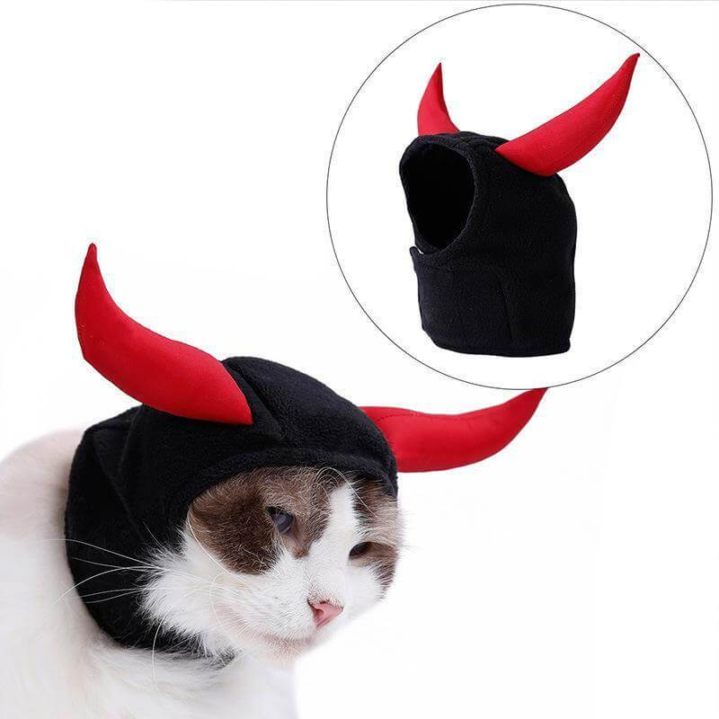 devil cat Halloween costume hats