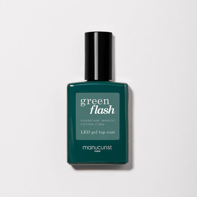 Top Coat Green FLASH - Gamme semi permanent - Nuoo