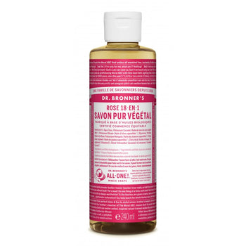 Dr. bronners - Gels douche - Savon liquide rose - Nuoo