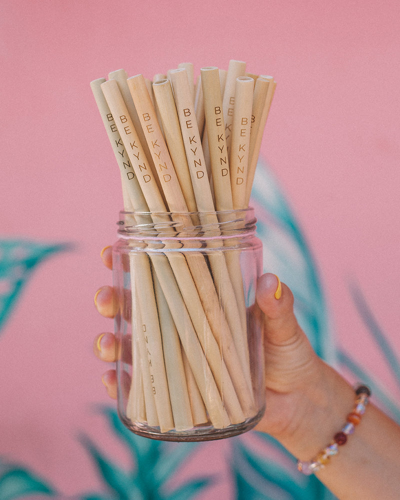 Load image into Gallery viewer, BE KYND - BAMBOO STRAWS 4PCS SET