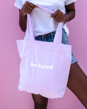 Load image into Gallery viewer, BE KYND MARKET TOTE - LILAC