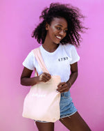 BE KYND MARKET TOTE - DUSTY PEACH