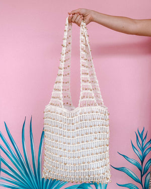 Load image into Gallery viewer, SUMMER MACRAME TOTE