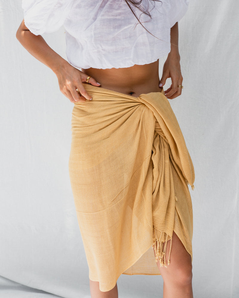 Load image into Gallery viewer, KYND SUMMER SARONG - MUSTARD
