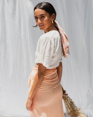 Load image into Gallery viewer, KYND SUMMER SARONG - PEACH PASTEL