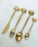 TROPICAL BRASS CUTLERY SET