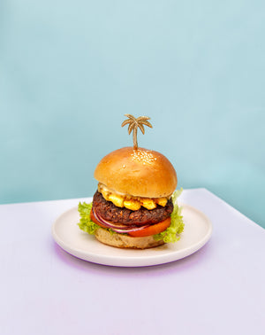 Load image into Gallery viewer, vegan burger vegan food kynd community bali plant-based