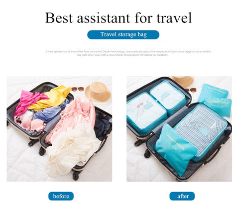 Image of Travel Bag Organizer Set 6 pcs