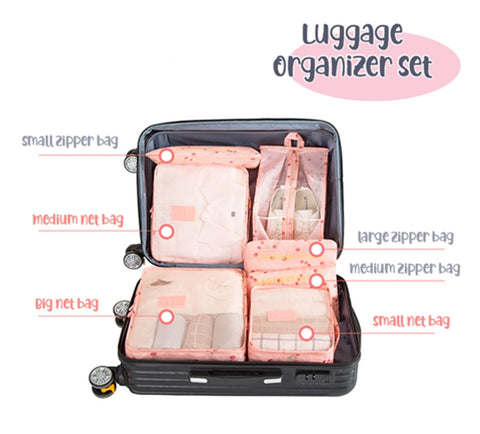 Image of Luggage Packing Organizer Set (6 Pcs)