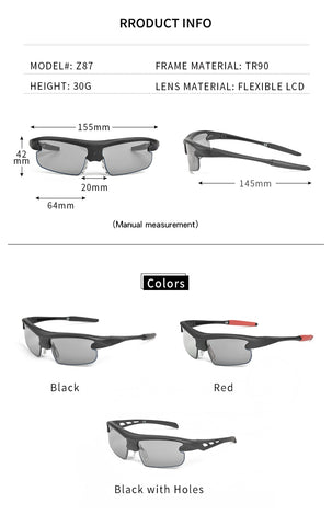 THE WORLD'S UNIQUE 0.1 S AUTOMATICALLY SWITCHES COLOR-CHANGING SUNGLASSES