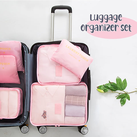 Travel Bag Organizer Set 6 pcs