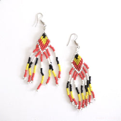 Tboli Hand-Beaded Earrings Jewelry Earrings Beaded