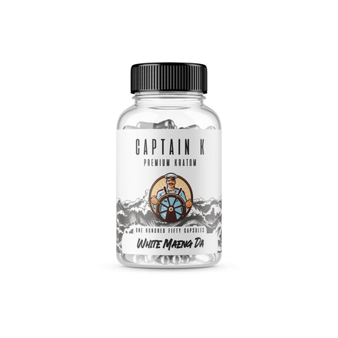 Captain K - White Maeng Da Capsules (Multiple Sizes)