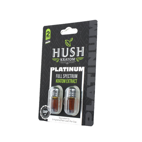 Hush - Platinum Full Spectrum Liquid Kratom Extract Capsules