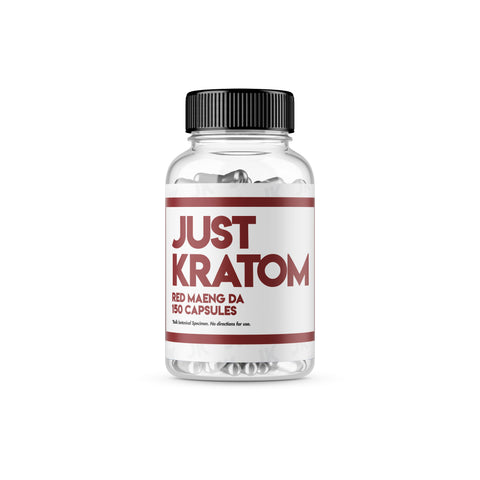 Just Kratom - Red Maeng Da Capsules (Multiple Sizes)