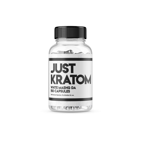 Just Kratom - White Maeng Da Capsules (Multiple Sizes)