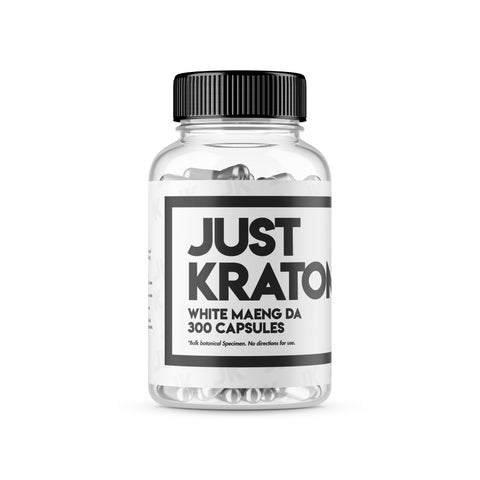 Just Kratom - White Maeng Da Capsules 30 to 300 Capsules