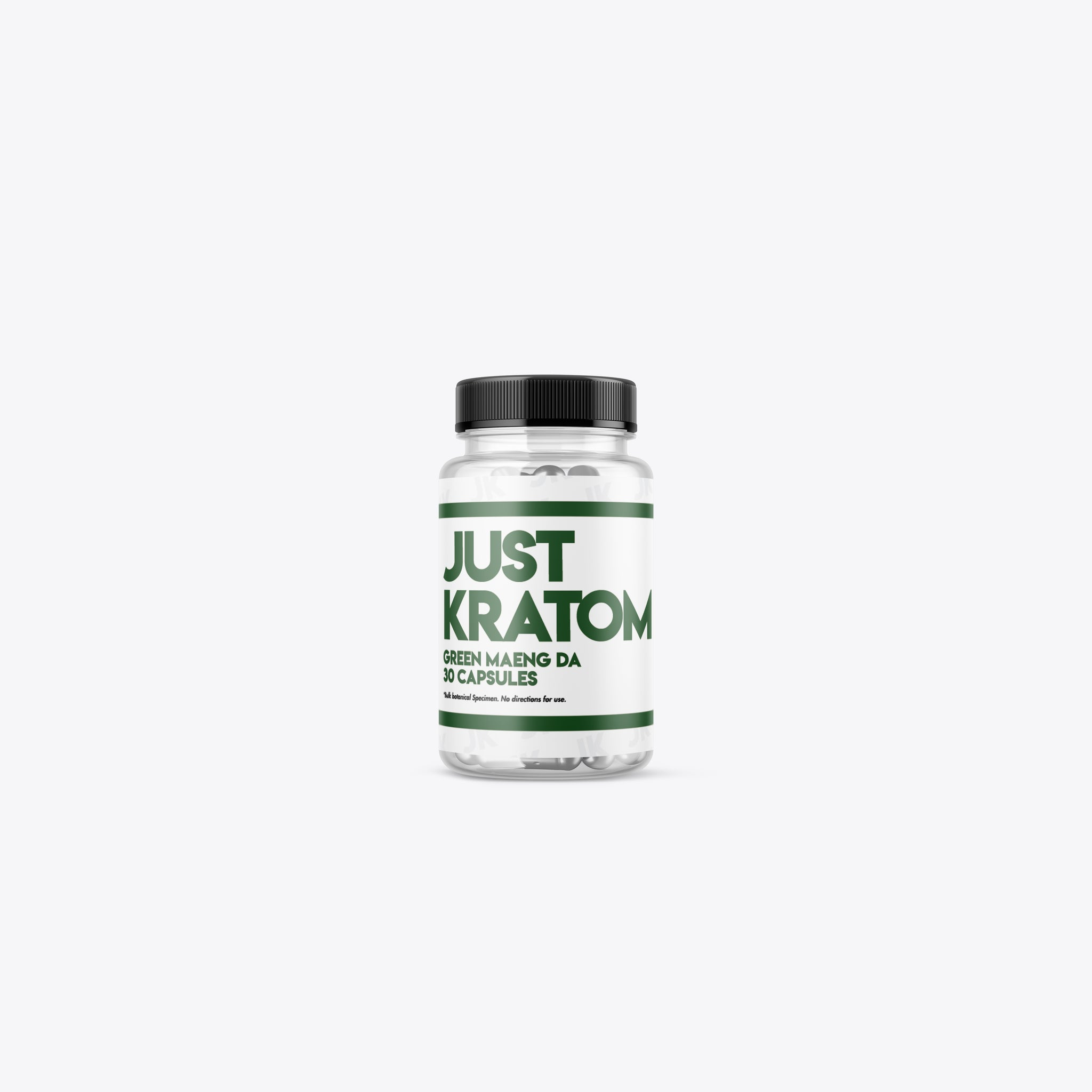 Just Kratom - Green Maeng Da Capsules (Multiple Sizes)