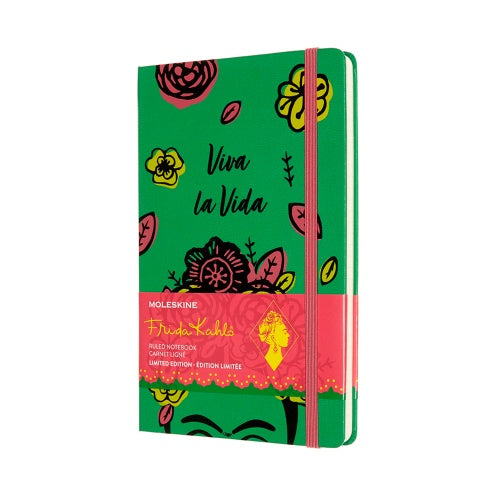Moleskine Limited Edition Frida Kahlo Notebook Ruled Large Green - Pencraft the boutique