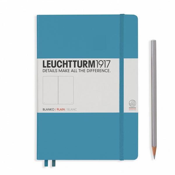 Leuchtturm1917 Notebook Medium (A5) Plain Nordic Blue - Pencraft the boutique