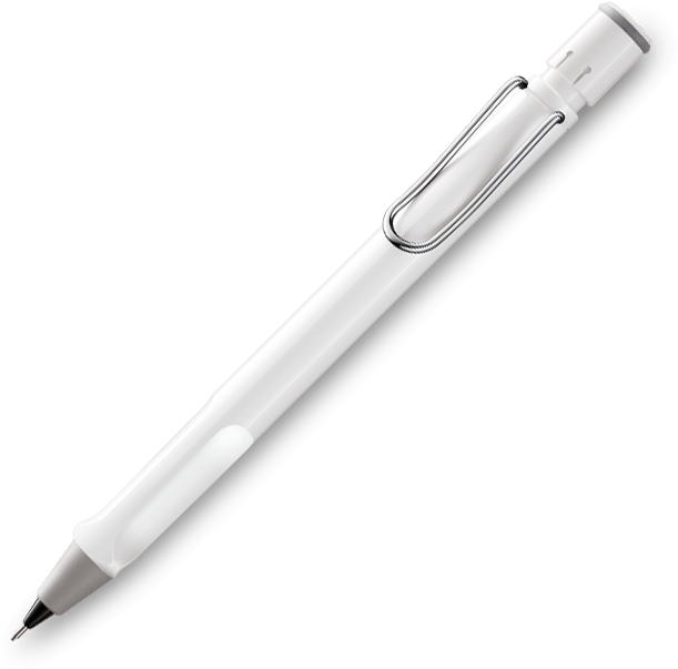 LAMY Safari Gloss White Pencil 0.5mm - Pencraft the boutique