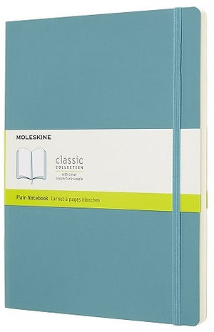 Moleskine Classic Soft Cover Notebook Plain Extra Large Reef Blue - Pencraft the boutique