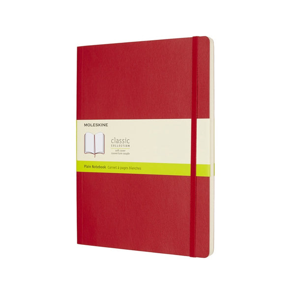 Moleskine Classic Soft Cover Notebook Plain Extra Large Scarlet Red - Pencraft the boutique