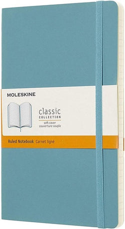 Moleskine Classic Soft Cover Notebook Large Reef Blue Ruled - Pencraft the boutique