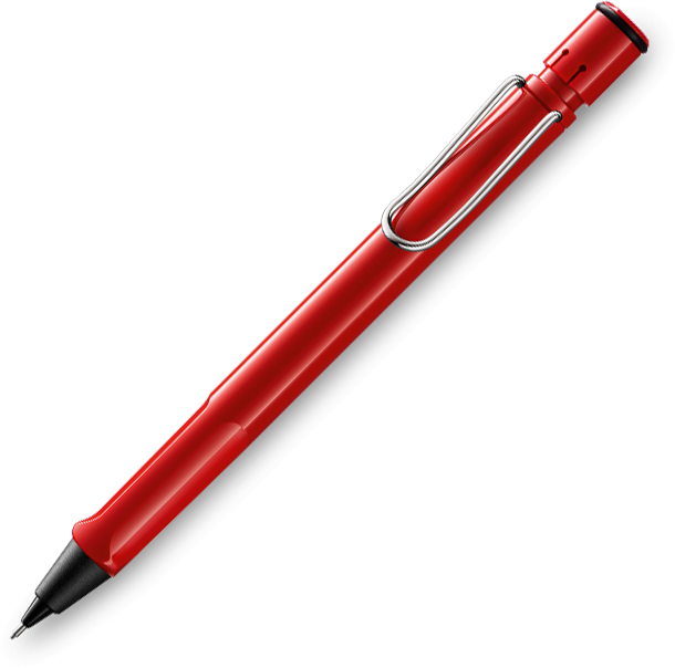 LAMY Safari Red Pencil 0.5mm - Pencraft the boutique