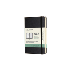 Moleskine 2020-2021 18 Month Hard Cover Diary Weekly Notebook Pocket Black - Pencraft the boutique