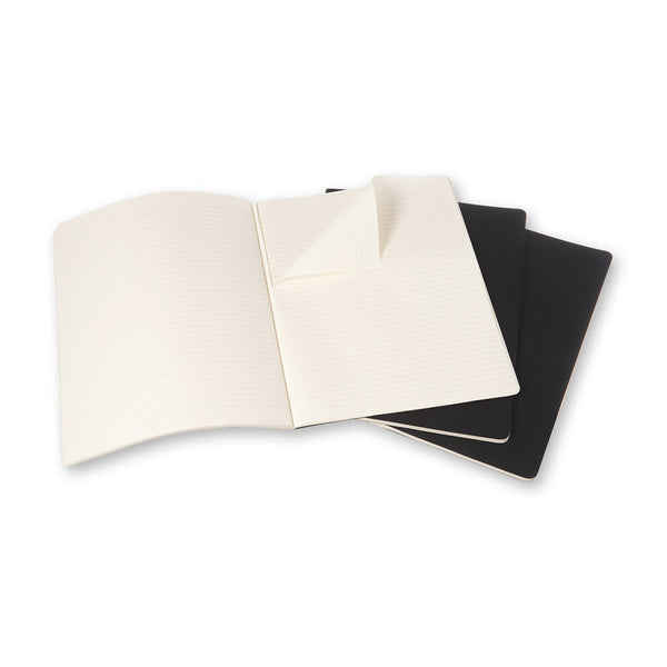 Moleskine Cahier Notebook Set of 3 Ruled Extra Extra Large Black - Pencraft the boutique