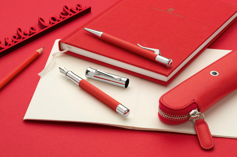 Graf von Faber Castell Guilloche India Red Ballpoint - Pencraft the boutique
