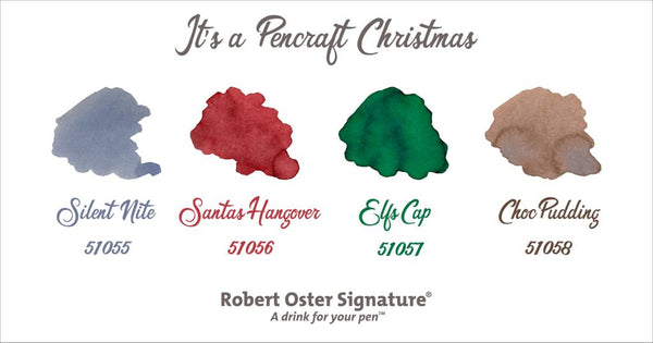 Robert Oster Signature Ink Bottle Holiday Season LE Silent Nite - Pencraft the boutique