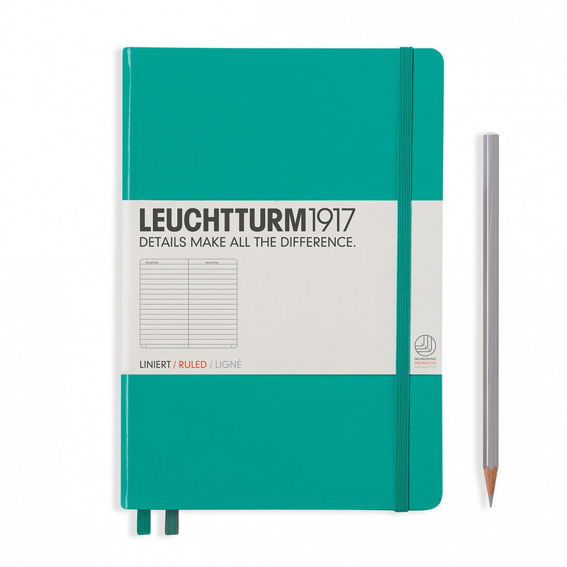Leuchtturm1917 Notebook Medium (A5) Ruled Emerald Green - Pencraft the boutique