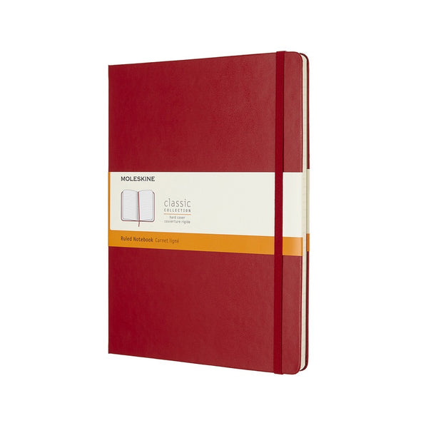 Moleskine Classic Hard Cover Notebook Ruled Extra Large Scarlet Red - Pencraft the boutique