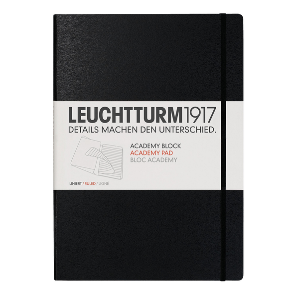 Leuchtturm1917 Academy Block A4 Ruled Black - Pencraft the boutique