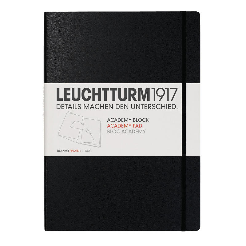 Leuchtturm1917 Academy Block A4 Plain Black - Pencraft the boutique