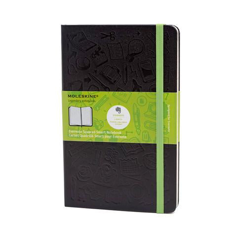 Moleskine Evernote Hardcover Notebook Ruled Large Black - Pencraft the boutique