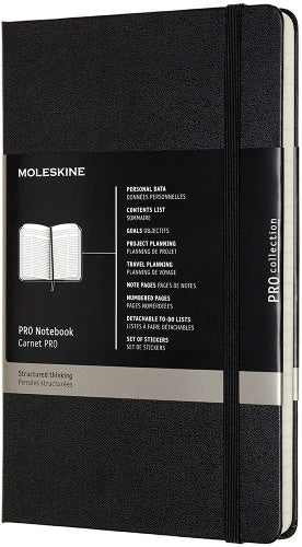 MOLESKINE Professional hard cover Notebook Ruled Black - Pencraft the boutique
