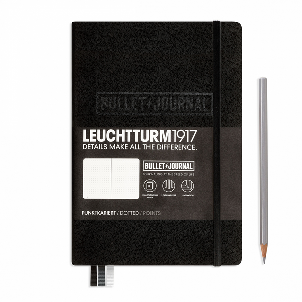 Leuchtturm1917 Bullet Journal Medium (A5) Black - Pencraft the boutique