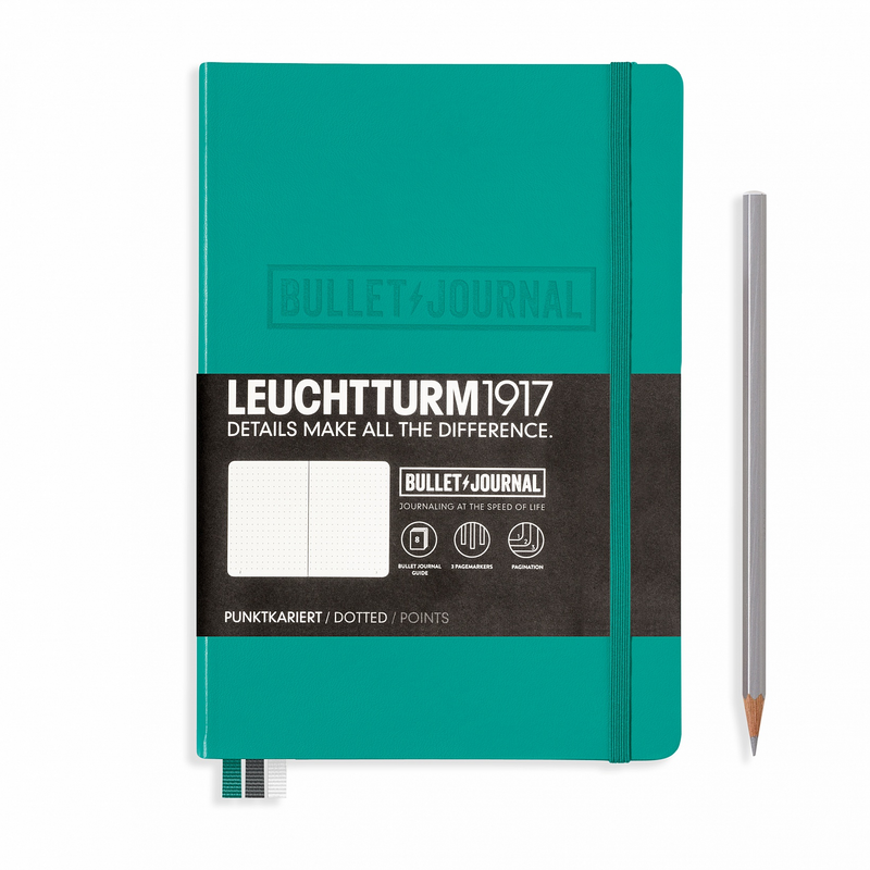 Leuchtturm1917 Bullet Journal Medium (A5) Emerald - Pencraft the boutique